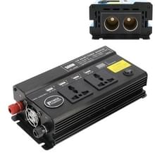 500W DC 12V naar AC 220V auto multi-functionele 4588 Smart Power Inverter (zwart)