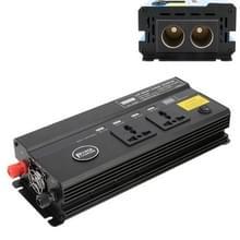 650W DC 12V naar AC 220V auto multifunctionele 4988 Smart Power Inverter (zwart)
