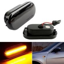 2 stuks D12V/5W auto LED Leaf Board kant stromend water turn signaallicht voor Volkswagen (zwart)