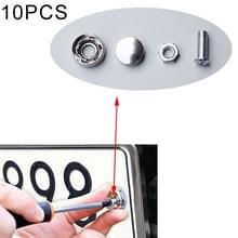 10 sets anti-diefstal schroeven auto License Plate bouten frame schroeven