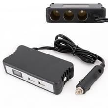 Multifunctionele sigarettenaansteker splitter met 2 USB-poorten 2.4 A telefoon autolader met digitaal display