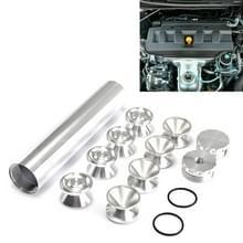 8 PCS 5/8-24 inch Auto Brandstof Filter Cap Interieuraccessoires Auto's Brandstoffilters voor Napa 4003 WIX 24003 (Zilver)