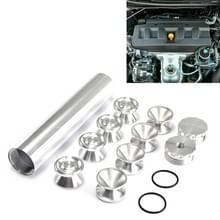 8 PCS 1/2-28 inch Car Fuel Filter Cap Interieuraccessoires Auto's Brandstoffilters voor Napa 4003 WIX 24003 (Zilver)