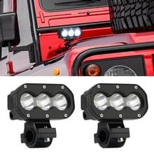 2 PCS 4 inch 25W 6000K 3000LM DC12-30V Motorfietsen / Auto / Schip LED Spotlight Een Kolom Lichten  Single Row 3LEDs