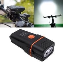 Mountain Bike Light Koplampen Super Bright Oplaadbare Zaklamp Night Riding Equipment (Oranje)