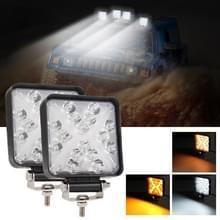 2 PCS 4 inch Square 3-line X-vorm DC10-30V / 15W / 6000K / 3000K / 1050LM Car Headlights Projector Lens Werklicht