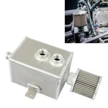 Universal Racing Aluminium Alloy Oil Catch Can met Air Filter Breather Tank  Capaciteit: 2L (Zilver)