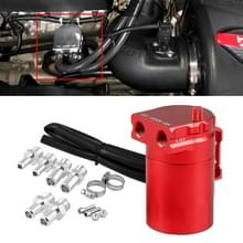 Universal Racing Aluminium Alloy Oil Catch Can Oil Tank Breather Tank  Capaciteit: 300ML (Rood)