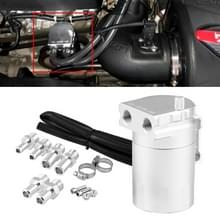 Universal Racing Aluminium Alloy Oil Catch Can Oil Tank Breather Tank  Capaciteit: 300ML (Zilver)