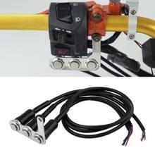 Motorfiets Switch Stuur Verstelbare Mount Waterproof Switches 3 Knoppen voor Koplamp Hoorn Draai Signle met LED