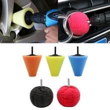 5 in 1 3 inch Car Polishing Disc Set Wheel Rim Polishing Waxing Sponge