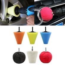 6 in 1 3 inch Car Polishing Disc Set Wheel Rim Polishing Waxing Sponge