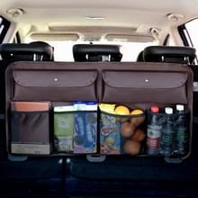 Universal Car Trunk Sundries Storage Bag Auto Rear Seat Net Pocket Bag (Koffie)