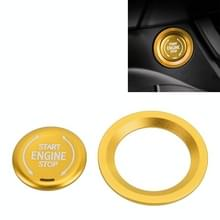 Auto Motor Start Key Drukknop Ring Trim Metalen Sticker Decoratie voor Cadillac CT5 CT4 XT4 XT6 / Chevrolet Silverado (Goud)
