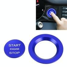 Auto Motor Start Key Push Button Ring Trim Metalen Sticker Decoratie voor Land Rover / Jaguar (Blauw)