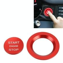 Auto Motor Start Key Push Button Ring Trim Metalen Sticker Decoratie voor Land Rover / Jaguar (Rood)