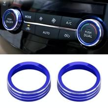 2 PCS Car Metal AirConditioner Knob Case voor Nissan X-TRAIL (Blauw)