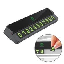 WK WT-SP06 Verborgen zonnebrandcrème hoge temperatuur aluminium legeringtijdse parkeerkaart autosticker (zwart)