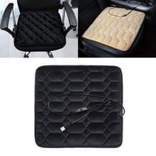 Auto USB Stoelverwarming kussen Warmer Cover Winter Verwarmde Warme Mat  Stijl: Hartvorm (Zwart)