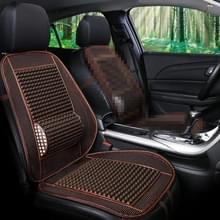 Autostoel bedekt zomer coole imitatie houten kralen ventilatie ademend zitkussen (Koffie)