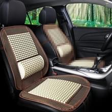 Autostoel bedekt zomer coole imitatie houten kralen ventilatie ademend zitkussen (Beige)