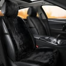Auto Winter Pluche Voorstoelkussen (Zwart)