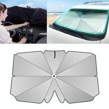Auto intrekbare zonnescherm zonnebrandcrème warmte-isolatie voorruit parasol  grijs groot formaat
