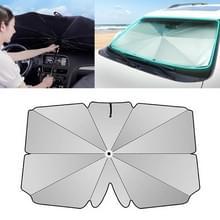 Auto intrekbare zonnescherm zonnebrandcrème warmte-isolatie voorruit parasol  grijs klein formaat