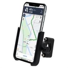 Motorfiets aluminium legering mobiele telefoon houder beugel  stuur versie (zwart)