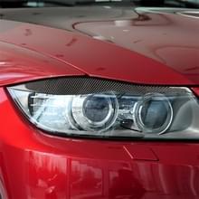 1 paren koolstofvezel auto lamp wenkbrauw decoratieve sticker voor BMW E90/318i/320i/325i 2005-2008  drop lijm versie