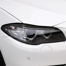 Carbon Fiber auto lamp wenkbrauw decoratieve sticker voor BMW 5 serie F10 2014-2016