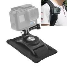 360 graden roterende Quick Release Strap Mount schouder rugzak Mount voor een  GoPro HERO 7 / 6 / 5 / 5 session / 4 session / 4 / 3+/ 3 / 2 / 1    Xiaoyi en andere actie-Cameras(Black)