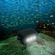 Waterdichte LED Video Light met Adapter Mount & schroef voor GoPro HERO7/6 /5 /5 sessie /4 sessie /4 /3+/3 /2 /1  Xiaoyi en andere actie camera's (zwart)