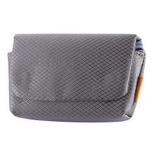 Rhombus textuur nylon camera Case Bag voor Canon  Sony  Nikon  micro single  digitale camera's  grootte: 12.5 × 7.5 × 4cm (grijs)