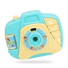 Kinderen cartoon projector gesimuleerde camera educatief speelgoed (blauw)