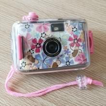 SUC4 bloemen patroon retro film camera mini Point-and-shoot camera voor kinderen 5m waterdicht