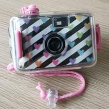 SUC4 hart patroon retro film camera mini Point-and-shoot camera voor kinderen 5m waterdicht