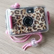 SUC4 luipaard print retro film camera mini Point-and-shoot camera voor kinderen 5m waterdicht