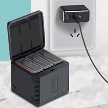 RUIGPRO USB Triple batterijen behuizing lader doos met LED-indicatielampje voor DJI OSMO-actie
