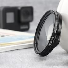 RUIGPRO voor GoPro HERO 7/6/5 Proffesional 52mm CPL lens filter met filter adapter ring & lensdop
