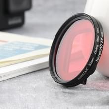 RUIGPRO voor GoPro HERO 7/6/5 Proffesional 52mm rode kleur lens filter met filter adapter ring & lensdop