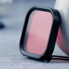 Vierkante behuizing duiken kleur lens filter voor GoPro HERO8 (roze)