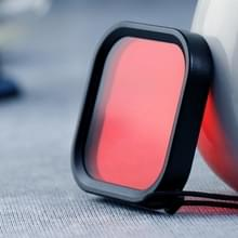 Vierkante behuizing duiken kleur lens filter voor GoPro HERO8 zwart (rood)