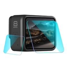 Voor GoPro HERO8 lens + LCD-scherm gehard glas film (transparant)