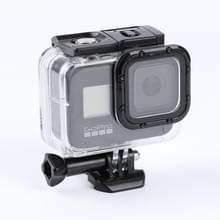 Voor GoPro HERO8 Black 45m waterdichte behuizing beschermhoes met gesp Basic Mount & schroef (transparant)