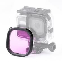 Vierkante behuizing duiken kleurenlens filter voor GoPro HERO8 zwart originele waterdichte behuizing (paars)