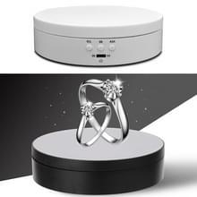 13 8 cm USB-opladen Smart 360 graden roterende draaitafel display video schieten rekwisieten draaitafel voor fotografie  laden 3kg (Wit)