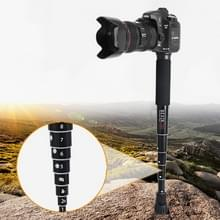BEXIN P308C Portable Travel Outdoor DSLR Camera Aluminium Alloy Monopod Holder (Zwart)