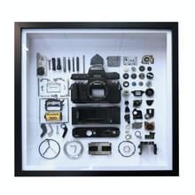 Niet-werkende display 3D mechanische film camera vierkante foto frame montage demonteren specimen frame  model: stijl 4  willekeurige camera model levering