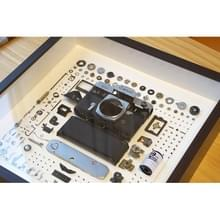 Niet-werkende display 3D mechanische film camera vierkante foto frame montage demonteren specimen frame  model: stijl 6  willekeurige camera model levering
